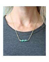 Spectrum | Blue Turquoise Bar Necklace | Lyst