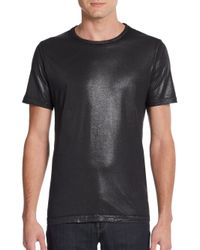 Just Cavalli | Black Shimmer Cotton Tee for Men | Lyst