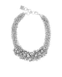 BCBGMAXAZRIA | Metallic Drop Stone Necklace | Lyst