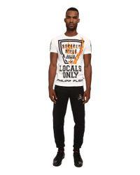 Philipp Plein | White Locals Only Tee Shirt for Men | Lyst