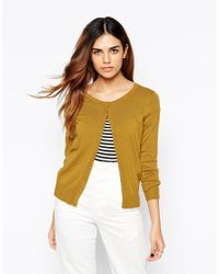 Vero Moda | Orange Button Front Cardigan | Lyst