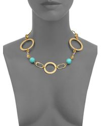 Stephanie Kantis - Metallic Love Turquoise, Citrine & White Quartz Necklace - Lyst
