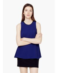 Mango | Blue Flowy Top | Lyst