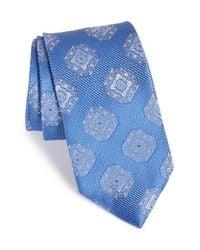 John W. Nordstrom - Blue 'malbo' Medallion Silk Tie for Men - Lyst