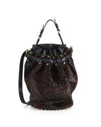 Alexander Wang - Black Diego Calf Hair Leather Flatback Bucket Bag - Lyst