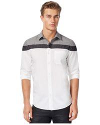 Guess | Gray Laguna-mix Chambray Shirt for Men | Lyst