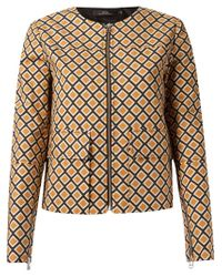 Andrea Marques | Brown Geometric-Print Jacket | Lyst