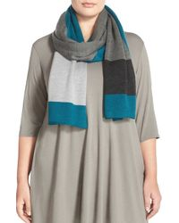 Eileen Fisher - Blue Merino Wool Scarf - Lyst