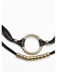 Free People | Black Heyoka Womens Gwen Leather Choker | Lyst