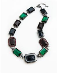 ABS By Allen Schwartz | Multicolor Faceted Collar Link Necklace for Men | Lyst
