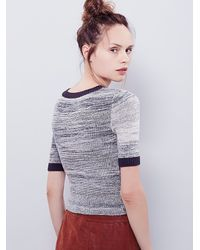 Free People - Gray Space Dye Tee - Lyst