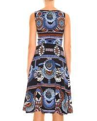 Peter Pilotto - Blue Kia Printed Stretch-jersey Dress - Lyst