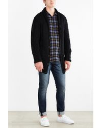 Neuw - Black Oversized Cable Knit Cardigan for Men - Lyst