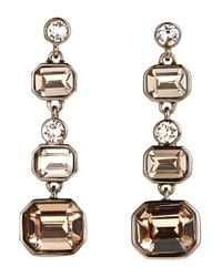 Givenchy | Metallic Rose Gold-Tone Statement Linear Earrings | Lyst