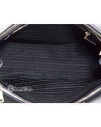 Prada - Preowned Black Saffiano Lux Double Zipped Tote Bag - Lyst