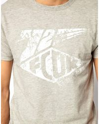 French Connection   Gray T-shirt Sbs Crew for Men   Lyst