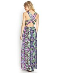 Forever 21 - Green Crossback Woven Maxi Dress - Lyst