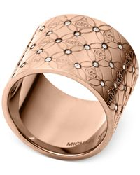 Michael Kors | Pink Open Barrel Ring | Lyst