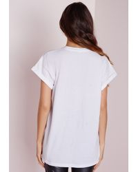Missguided | Idfwu Slogan T Shirt White | Lyst