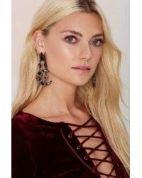 Nasty Gal | Black Divine Divination Crystal Earrings | Lyst