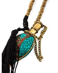 Katerina Psoma - Metallic Mosaic Pendant Necklace - Lyst