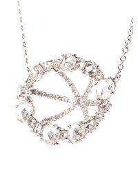Susan Foster   Metallic Diamond Slice & Yellow-Gold Necklace   Lyst