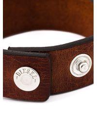 DIESEL | Brown Embossed Logo Bracelet for Men | Lyst