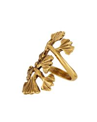 Oscar de la Renta - Metallic Gingko-Leaf Ring - Lyst