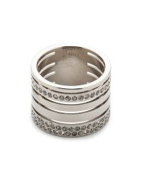 Vita Fede - Metallic Pila Band Ring - Silver - Lyst