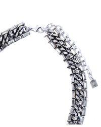 DANNIJO | Metallic Silver-tone Annabel Crystal Tassel Necklace | Lyst