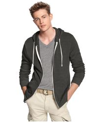 Alternative Apparel | Black Rocky Zip-front Hoodie for Men | Lyst
