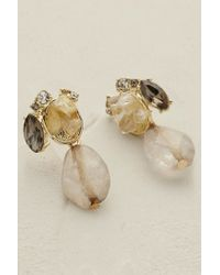 Anthropologie | Natural Glacielle Chandelier Earrings | Lyst