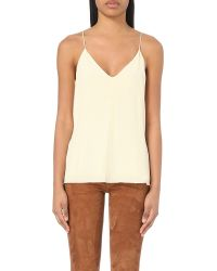 Closed | White V-neck Silk Camisole | Lyst