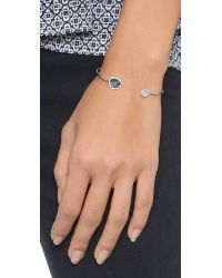 Tai | Metallic Asymmetrical Pave Bracelet - Moonstone/Silver | Lyst