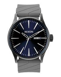 Nixon - Gray 'the Sentry' Watch for Men - Lyst
