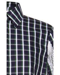 Natasha Zinko - Blue Vintage Lace Checked Shirt - Lyst