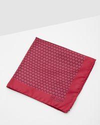 Ted Baker - Pink Geo Tile Print Pocket Square for Men - Lyst