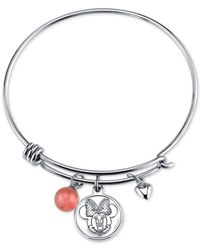 Disney | Metallic Minnie Mouse Cherry Quartz Charm Bracelet In Stainless Steel | Lyst