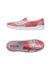 Moschino   Red Low-tops & Trainers for Men   Lyst