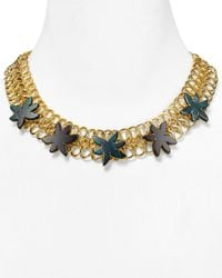 Marc By Marc Jacobs | Green Palm Choker Necklace 17 | Lyst