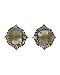 Sylva & Cie - Metallic Rough Diamond Earrings - Lyst
