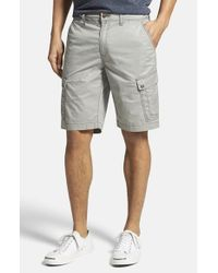 Jeremiah - Gray 'maximus' Twill Cargo Shorts for Men - Lyst