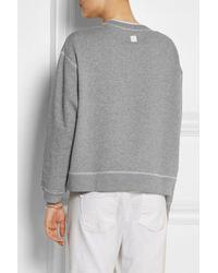 Richard Nicoll - Gray Brutal Printed Cotton-Jersey Sweatshirt - Lyst