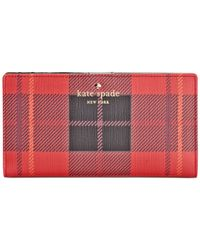 kate spade new york | Red Fairmount Square Stacy Wallet | Lyst