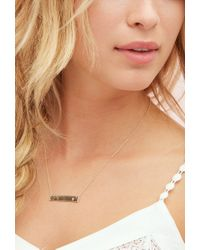 Forever 21 | Metallic Adorn512 Initial G Bar Necklace | Lyst