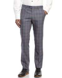 Moods Of Norway - Blue Rolf Flo Melange Check Trousers for Men - Lyst