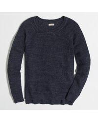 J.Crew | Blue Factory Airspun Waffle Beach Sweater for Men | Lyst