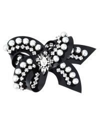 Shourouk | Metallic 'bow' Pearl Brooch | Lyst