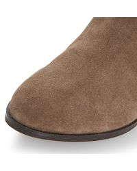 Dune - Brown Relissa Suede Slouch Calf Boot - Lyst