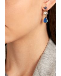 Melissa Joy Manning - Blue 14-karat Gold Multi-stone Earrings - Lyst